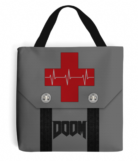 Doom Medikit First Aid Design Tote Bag Handbag